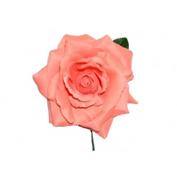 Flor con tallo-Tela