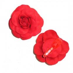 Flor con clip-Tela