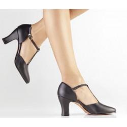 Zapato con goma  lateral-Piel