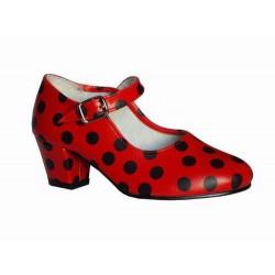 Zapato flamenco con lunares-Feria