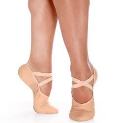 Zapatilla media punta suela partida- Lona