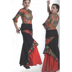 Falda Flores Red