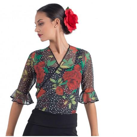 Chaquetiila flamenco estampada