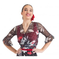Chaquetilla flamenco estampada