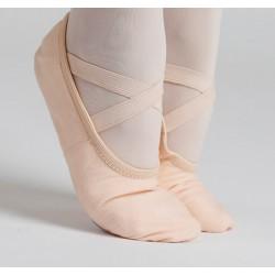 Zapatilla media punta suela partida-Lona