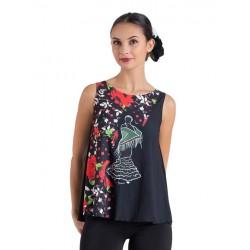 Camiseta Tirantes Flamenca