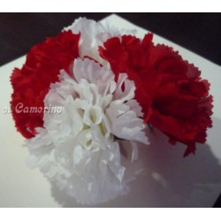 Flor clavel-Tela